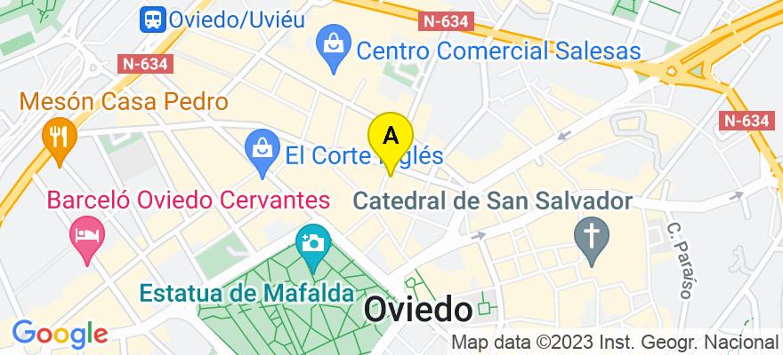 situacion en el mapa de . Direccion: Posada Herrera 6, 7A, 33002 Oviedo. Asturias