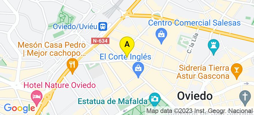 situacion en el mapa de . Direccion: Melquiades Alvarez 26, 33003 Oviedo. Asturias