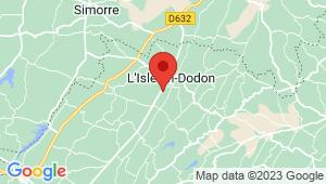 Carte de localisation du centre de contrôle technique L'Isle en Dodon