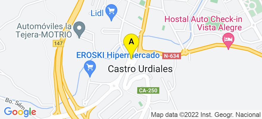 situacion en el mapa de . Direccion: Calle La Ronda 18 - 1ºC, 39700 Castro-Urdiales. Cantabria