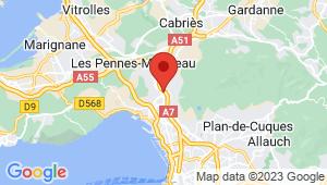Carte de localisation du centre de contrôle technique Marseille 15
