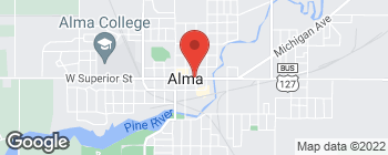 Map of 227 E Superior St in Alma