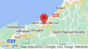 Carte de localisation du centre de contrôle technique CIBOURE