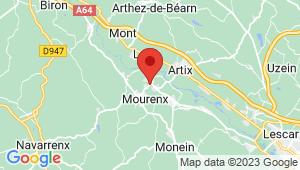 Carte de localisation du centre de contrôle technique MOURENX