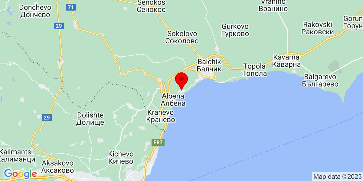 Google Map of 43.3849887821158, 28.098811058870584