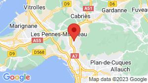 Carte de localisation du centre de contrôle technique SEPTEMES LES VALLONS