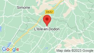 Carte de localisation du centre de contrôle technique L ISLE EN DODON