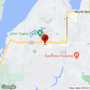 Map of Staples® Print & Marketing Services at 1995 Newmark Ave, Coos Bay, OR 97420