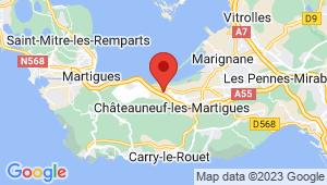 Carte de localisation du centre de contrôle technique CHATEAUNEUF LES MARTIGUES