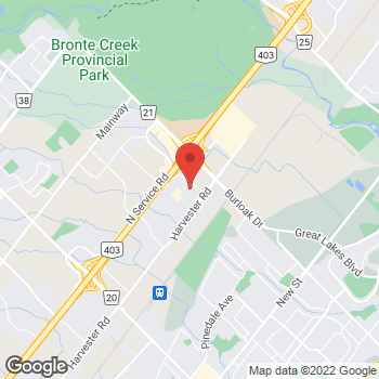 Map of Tim Hortons at 950 Syscon Rd, Burlington, ON L7R 4S6