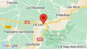 Carte de localisation du centre de contrôle technique LE CANNET DES MAURES