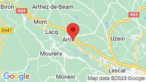 Carte de localisation du centre de contrôle technique ARTIX