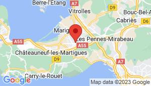 Carte de localisation du centre de contrôle technique GIGNAC LA NERTHE