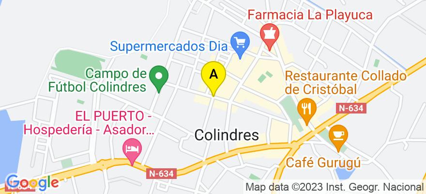 situacion en el mapa de . Direccion: Párroco Don Andrés nº4 (Bajo), 39750 Colindres. Cantabria