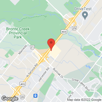 Map of GUESS Factory at 3527 Wyecroft Road, Oakville, ON L6L0B6