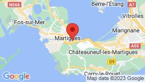 Carte de localisation du centre de contrôle technique MARTIGUES