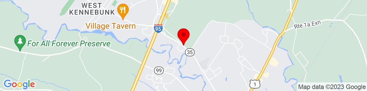 Google Map of 43.40066909999999, -70.5552277
