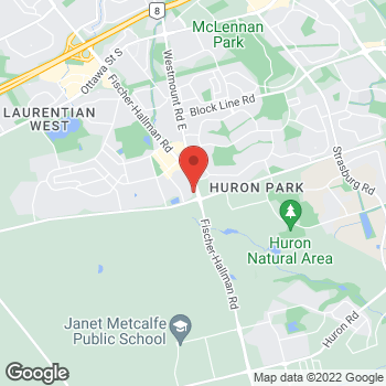 Map of Tim Hortons at 1201 Fischer-hallman Rd, Kitchener, ON N2N 4X8