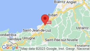 Carte de localisation du centre de contrôle technique SAINT JEAN DE LUZ