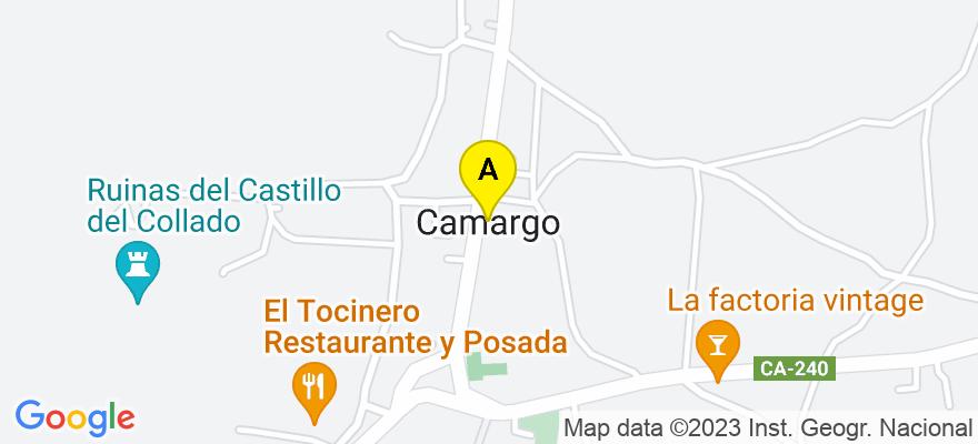 situacion en el mapa de . Direccion: Avda.De La Concordia nº20-Entlo.5, 39600 Camargo. Cantabria