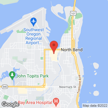 Map of Verizon Authorized Retailer - TCC at 1611 Virginia Ave, North Bend, OR 97459