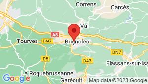 Carte de localisation du centre de contrôle technique BRIGNOLES