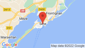 Carte de localisation du centre de contrôle technique SETE
