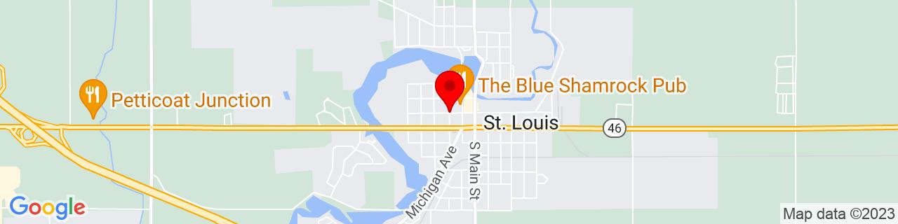 Google Map of 43.4092256, -84.6102877