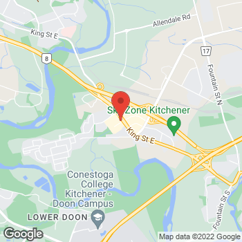 Map of Tim Hortons at 4285 King St East, Kitchener, ON N2P 2E9