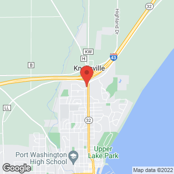 Map of Arby's at 100 Thomas Dr, Port Washington, WI 53074