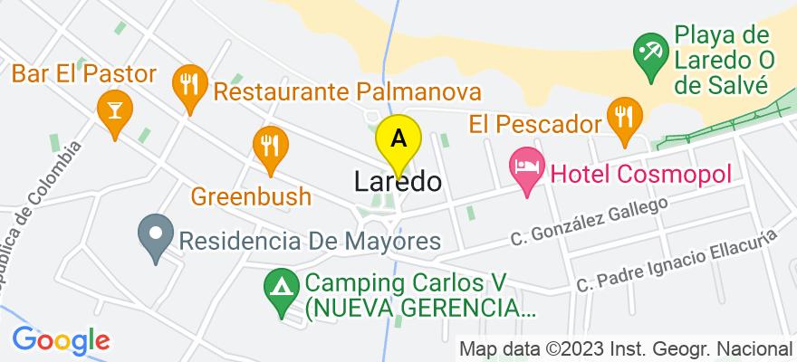 situacion en el mapa de . Direccion: López Seña 3 3º Izd., 39770 Laredo. Cantabria