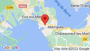 Carte de localisation du centre de contrôle technique PORT DE BOUC