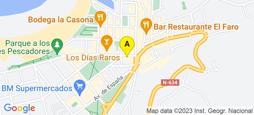 situacion en el mapa de . Direccion: López seña 3, 39770 Laredo. Cantabria