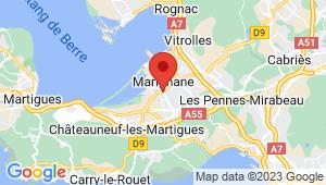 Carte de localisation du centre de contrôle technique MARIGNANE
