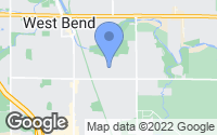 Map of West Bend, WI