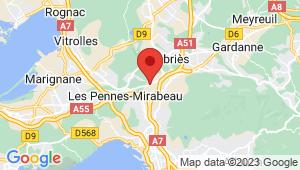 Carte de localisation du centre de contrôle technique LES PENNES MIRABEAU