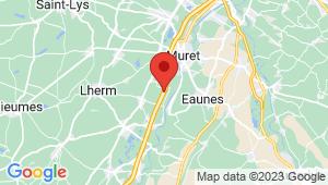 Carte de localisation du centre de contrôle technique MURET