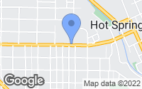 Map of Hot Springs, SD