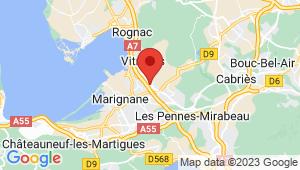 Carte de localisation du centre de contrôle technique VITROLLES