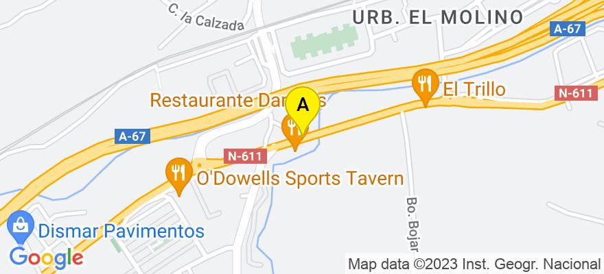 situacion en el mapa de . Direccion: Urbanización El Molino. Bloque 4. Bajo. Oficina 2, 39100 Santa Cruz de Bezana. Cantabria