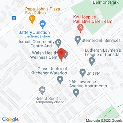 Walsh Health & Wellness Centre Static Google Map