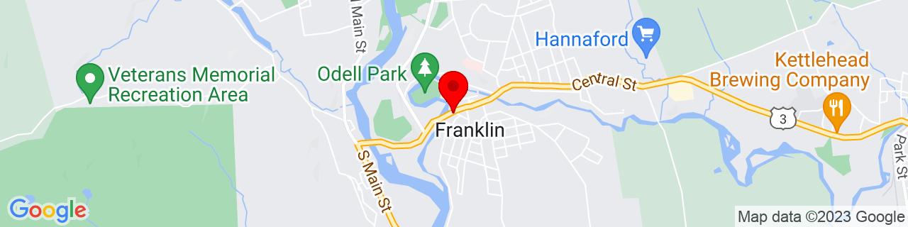 Google Map of 43.44416666666666, -71.64722222222223