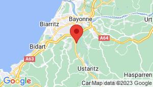 Carte de localisation du centre de contrôle technique BASSUSSARRY