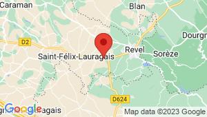 Carte de localisation du centre de contrôle technique SAINT FELIX LAURAGAIS