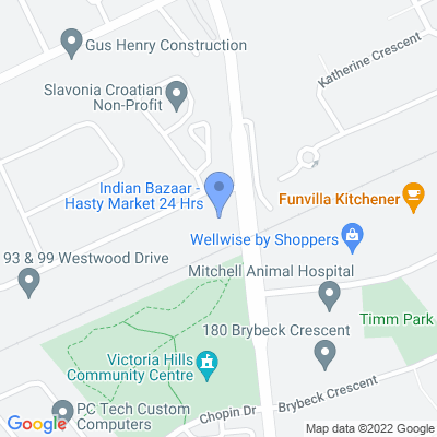 Hasty Market - Kitchener Map