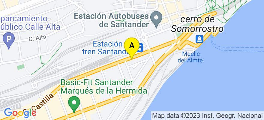 situacion en el mapa de . Direccion: Calle Castilla, 19, 39009 Santander. Cantabria