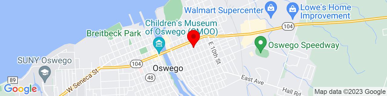 Google Map of 43.458051, -76.50125969999999