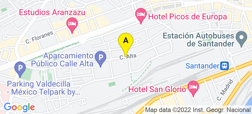 situacion en el mapa de . Direccion: Alta, 39008 Santander. Cantabria