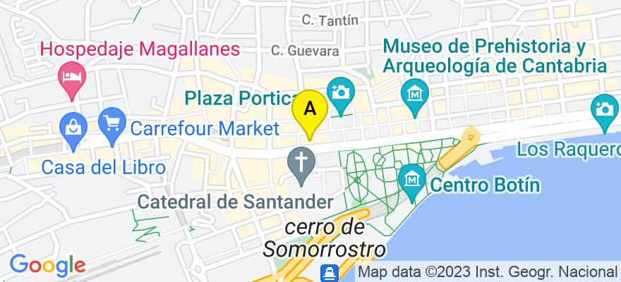 situacion en el mapa de . Direccion: c/ CALVO SOTELO, Núm. 19, piso 2º., 39002 Santander. Cantabria
