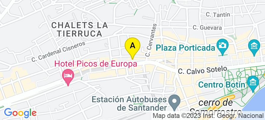 situacion en el mapa de . Direccion: ALAMEDA JESUS DE MONASTERIO 10-5º, 39010 Santander. Cantabria